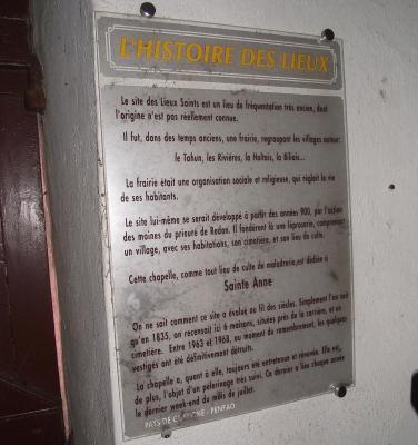 6 2 km20 chapelle saint anne des lieux saints panneau