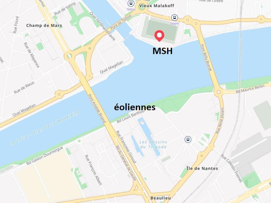 Situation msh et eoliennes